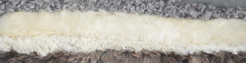 Skandinavisk lammeskind - fåreskind - forskellige kvaliteter